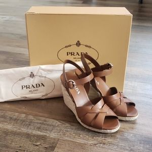 Prada Calzature Donna sandals brandy size 6 1/2